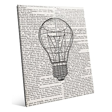 Click Wall Art 'Reading Inspire Ideas' Graphic Art; 20'' H x 16'' W x 1'' D