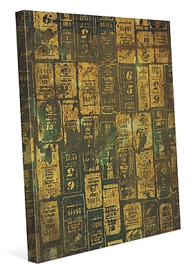 Click Wall Art 'Aged Signs' Graphic Art on Wrapped Canvas; 30'' H x 20'' W x 1.5'' D