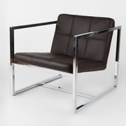 Whiteline Imports Lisa Arm Chair; Chocolate
