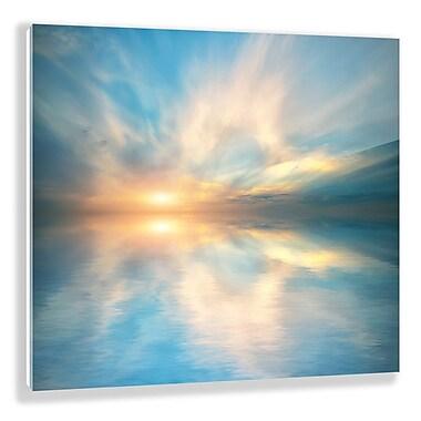 Two Palms Art Bazaar 'Heavenly Burst' Graphic Art on Plaque; 15'' H x 15'' W x 1'' D