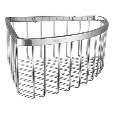 UCore Wall Mount Corner Shower Caddy; Chrome