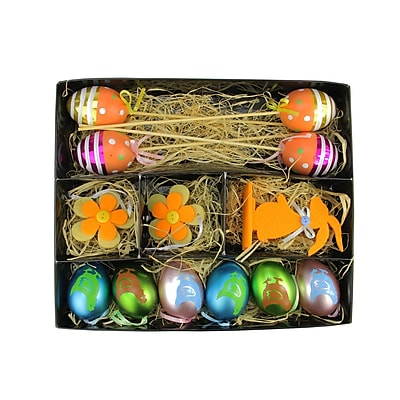 Northlight 13 Piece Easter Egg, Flower and Bunny Spring Decoration Set WYF078279400944