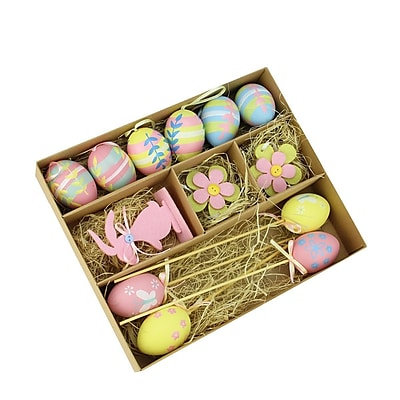 Northlight 13 Piece Easter Egg, Flower and Bunny Spring Decoration Set WYF078279400949