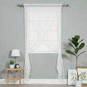 Best Home Fashion, Inc. Polka dots Sheer Rod Pocket Single Curtain Panel