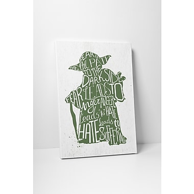 PingoWorld Star Wars Silhouettes ''Yoda'' Graphic Art on Wrapped Canvas; 20'' H x 16'' W x 0.70'' D