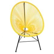 PoliVaz Acapulco Wire Basket Lounge Chair Indoor/Outdoor Stackable; Yellow
