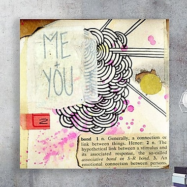 Two Palms Art Bazaar 'Me and You' by Jon Lavoie Graphic Art on Plaque; 46'' H x 46'' W x 1'' D