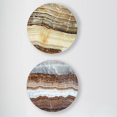 Two Palms Art Bazaar 'Subcutaneous Earth' 2 Piece Graphic Art on Plaque Set; 29'' H x 29'' W x 1'' D