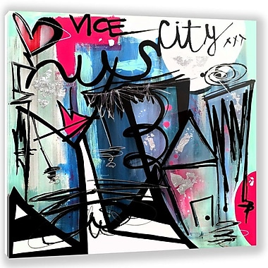 Two Palms Art Bazaar 'Vice City' by Jenny Perez Painting Print on Plaque; 29'' H x 29'' W x 1'' D