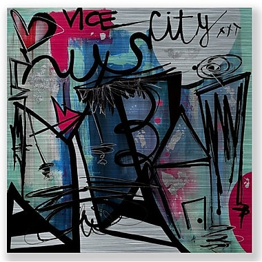 Two Palms Art Bazaar 'Vice City' by Jenny Perez Painting Print on Plaque; 46'' H x 46'' W x 1'' D