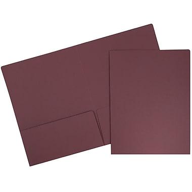 JAM PaperMD – Chemise de présentation en papier cartonné de haute qualité à deux pochettes, bourgogne, 100/paquet
