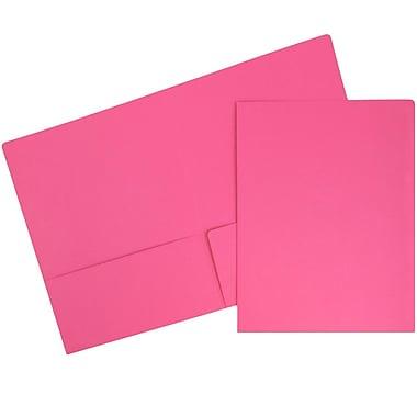 JAM PaperMD – Chemises de présentation en papier cartonné de première qualité à deux pochettes, rose magenta, 6/paquet