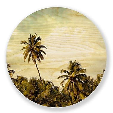 Two Palms Art Bazaar 'Palm Tree Supreme' Graphic Art on Plaque; 46'' H x 46'' W x 1'' D