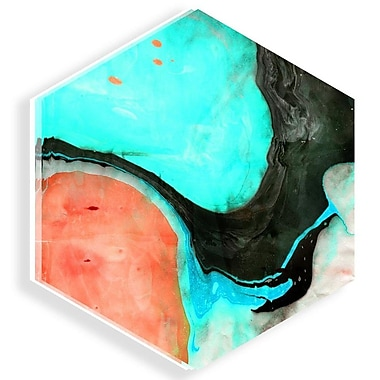 Two Palms Art Bazaar 'Limerence' by Lorenza Isidro Painting Print on Plaque; 15'' H x 15'' W x 1'' D