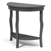 Kate and Laurel Lillian Console Table; Gray