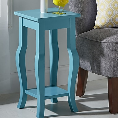 Kate and Laurel Lillian End Table; Teal