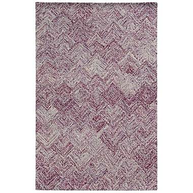 Pantone Universe Colorscape Hand-Tufted Geometric Purple Area Rug; 10' x 13'
