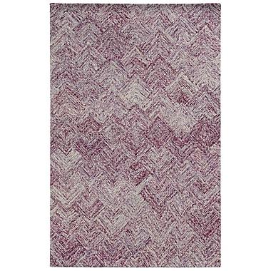 Pantone Universe Colorscape Hand-Tufted Geometric Purple Area Rug; Rectangle 8' x 10'