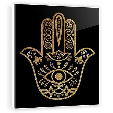 Two Palms Art Bazaar 'Hamsa' by Lorenza Isidro Graphic Art on Plaque; 37.5'' H x 30'' W x 1'' D
