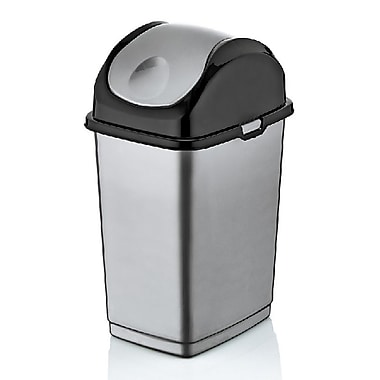 Superior Performance Brand 4.7 Gallon Swing-Top Plastic Trash Can