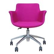 B&T Design Rego Leather Desk Chair; Purple