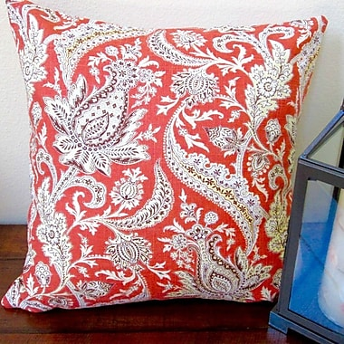Artisan Pillows Classic Vintage Paisley Modern Contemporary Cottage Indoor Pillow Cover