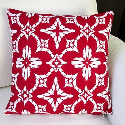 Artisan Pillows Aspidoras Geometric Modern Indoor/Outdoor Throw Pillow (Set of 2); Apple Red