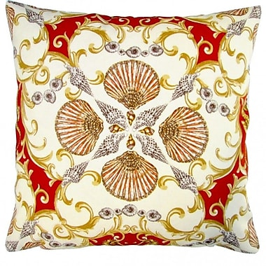Artisan Pillows Seashell Seahorse Coastal Living Beach House Indoor/Outdoor Pillow Cover (Set of 2)