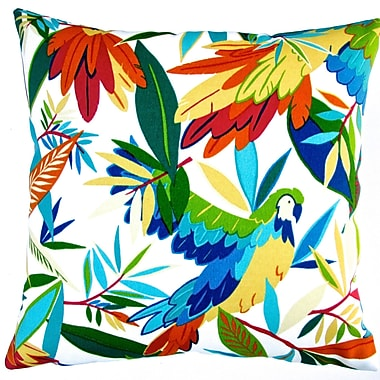 Artisan Pillows Kid's Colorful Tropical Birds Indoor/Outdoor Pillow Cover (Set of 2)