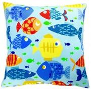 Artisan Pillows Kid's Colorful Fish Indoor/Outdoor Throw Pillow (Set of 2)