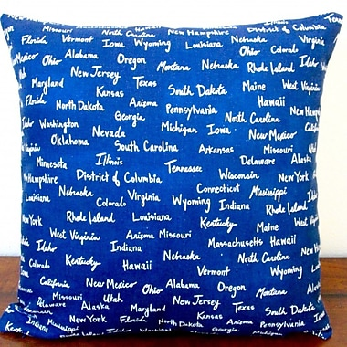 Artisan Pillows All the United States Canvas in Modern Pillow Cover