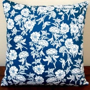 Artisan Pillows Peony Flowers Sateen Indoor Sateen Cotton Throw Pillow