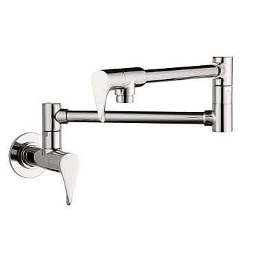 Axor Axor Citterio Double Handle Wall Mounted Pot Filler Faucet; Steel Optik