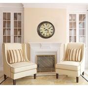 Cooper Classics Oversized 27.5'' Frye Wall Clock