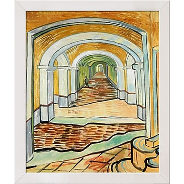 Tori Home Corridor of Saint Paul Asylum in Saint Remy by Vincent Van Gogh Framed Painting
