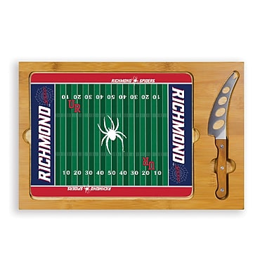 Picnic Time NCAA Football Icon Cutting Cheese Tray; University Of Richmond Spiders