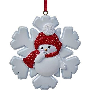 Kurt Adler 3.25'' Snowgirl on Snowflake Ornament