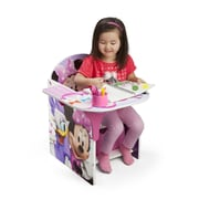 Delta Children Minnie Kids Desk Chair w/ Storage Compartment and Cup Holder