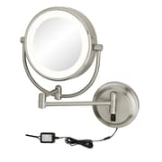Kimball & Young Neo Modern Double-Sided LED Lighted Wall Mounted  Mirror; Chrome