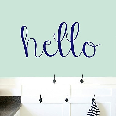 SweetumsWallDecals Hello Wall Decal; Navy