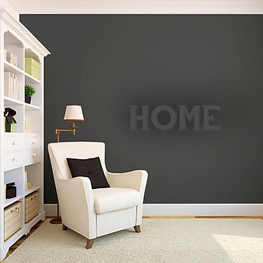 SweetumsWallDecals Home Wall Decal; DarkGray