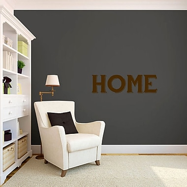 SweetumsWallDecals Home Wall Decal; Brown