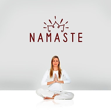 SweetumsWallDecals Namaste Wall Decal; Cranberry