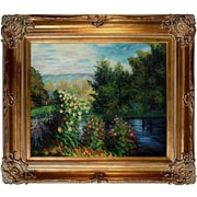 Tori Home Corner of the Garden at Montgeron by Claude Monet Framed Painting