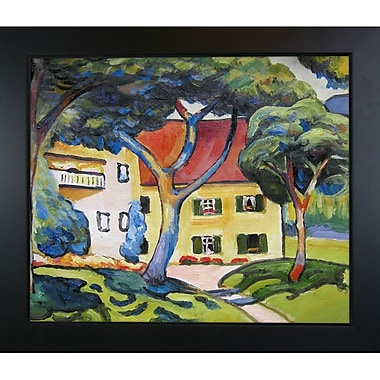 Tori Home House in Landscape by August Macke Framed Painting Print