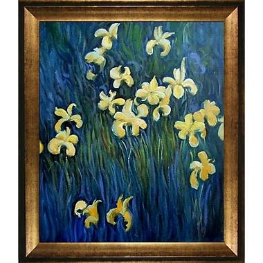 Tori Home Irises by Claude Monet Framed Painting Print