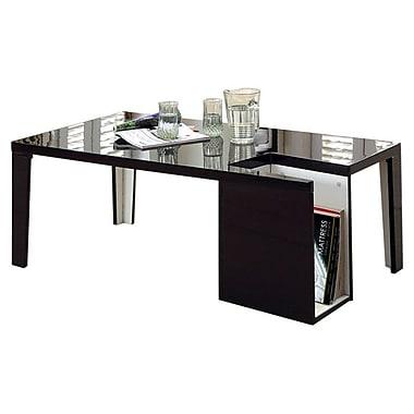 Hokku Designs Zedd Coffee Table w/ Magazine Rack; Black