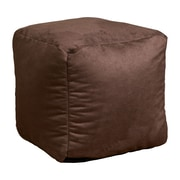 Home Loft Concepts Whitney Bean Bag Cube Ottoman; Brown