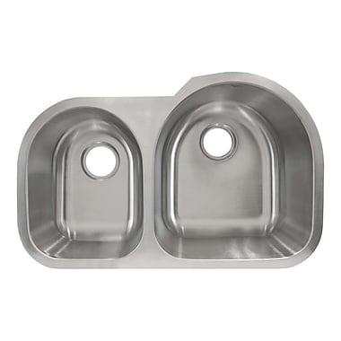 LessCare 30.5'' x 19.63'' Undermount Double Basin Kitchen Sink