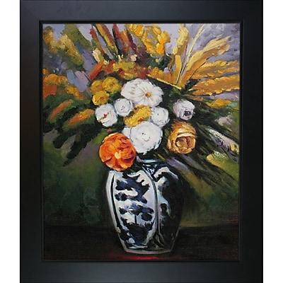 Tori Home Dahlias by Paul Cezanne Framed Painting